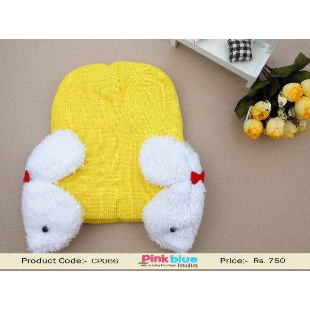 yellow baby warm cap
