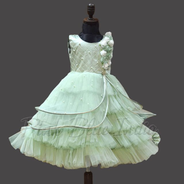 Butterfly Party Wear Gown for Baby Girl