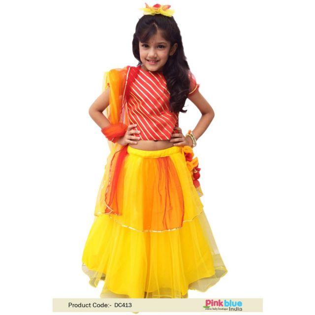 Buy Baby Lehenga Choli with Dupatta - Kid Girl festive Ethnic Wear