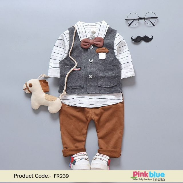 Buy Baby Boy Birthday Clothing – Kids party Outfit