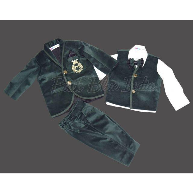Buy Boys Coat Suit, Kids 5 Piece Coat Suit with Shirt Pant
