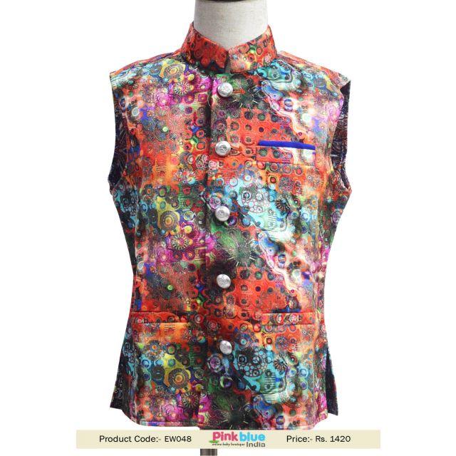 Buy Digital Nehru Jacket, Kids velvet Ethnic Nehru/Modi Jackets