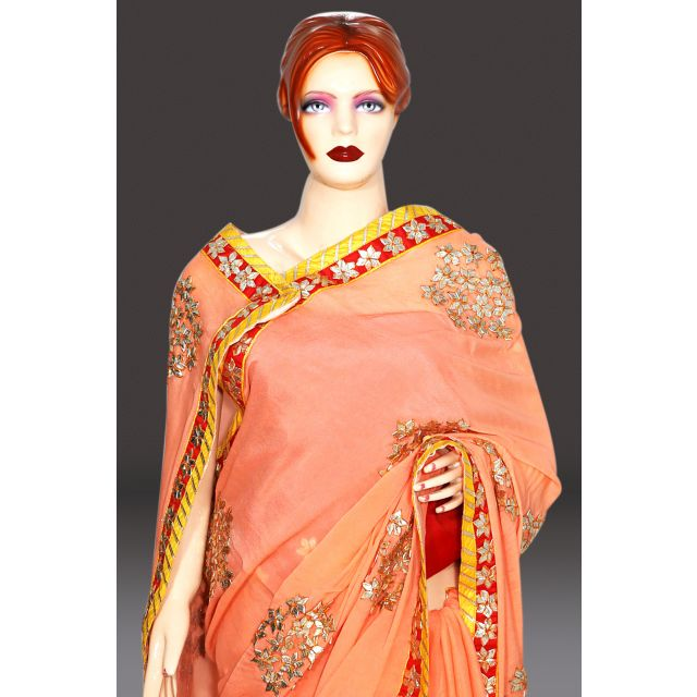 Buy Designer Gota Patti Saree Online Shopping