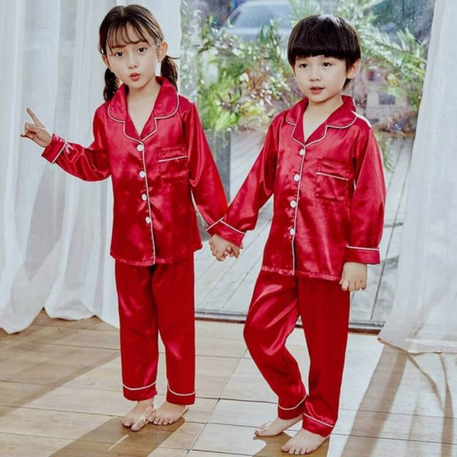 Twins Pajama Sets, Red Baby Sleepwear, Infant PJs