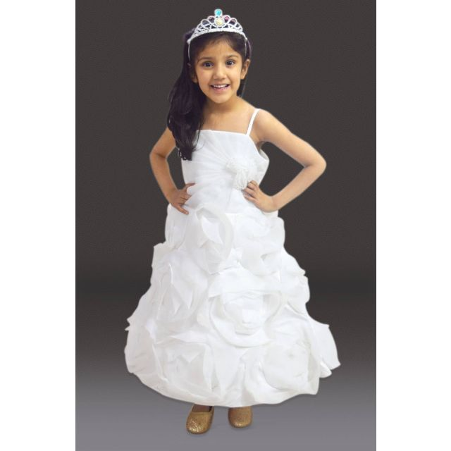 Little princess floral wedding party gown and dress
