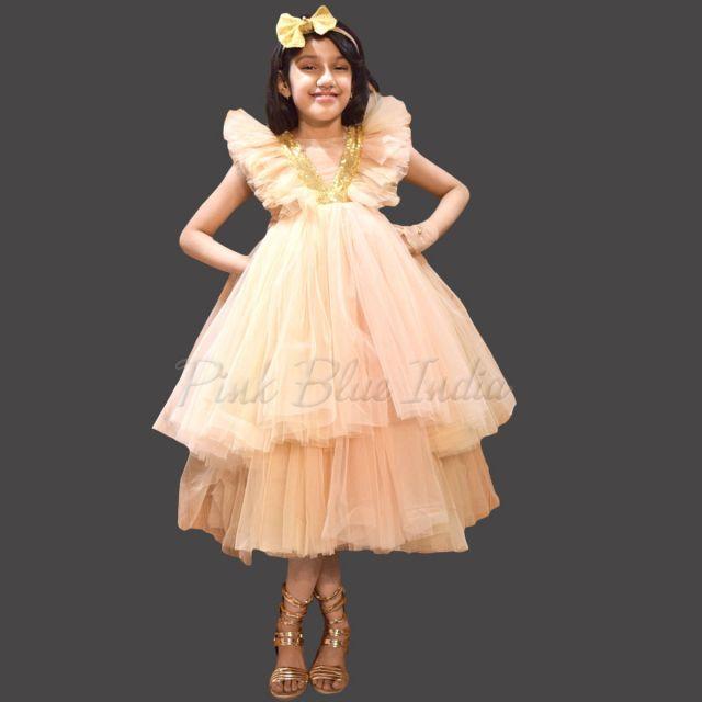 Champagne Color Flower Girl Dress