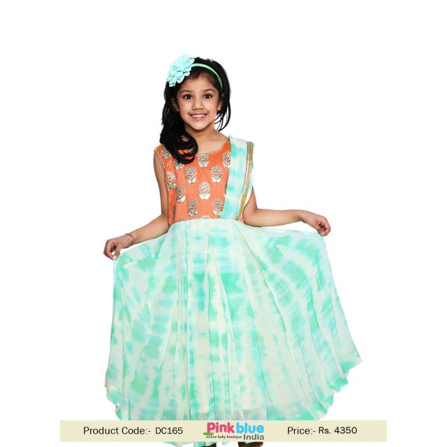 Girl Half Saree Style Gown - Party Wear Children indo Western dress
