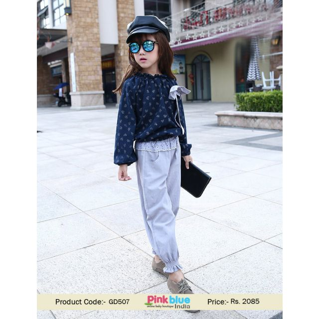 New Collection 2017 Two Piece Childrens Clothing Set T-shirt and Pants