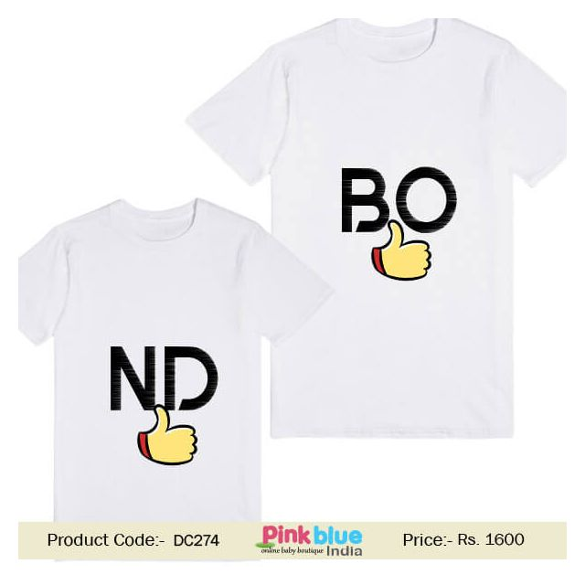 Shop Online Custom Little Sister and Brother T-shirt Set India