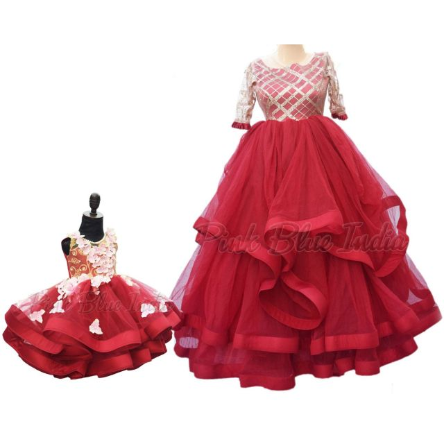 Mom Baby Same Dress, Wedding Combo matching dress, mother daughter gown