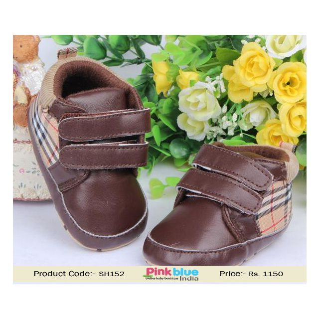 brown kids shoes