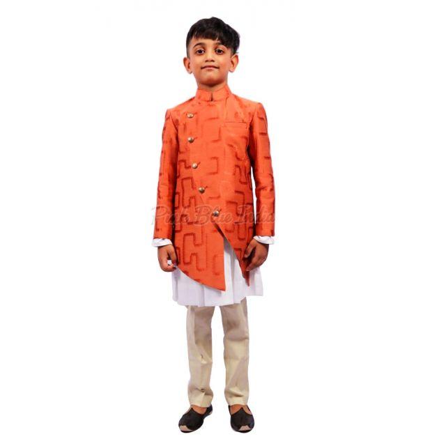 Boys Party Wear Wedding Kurta Pajama - Designer Indian kids Wear