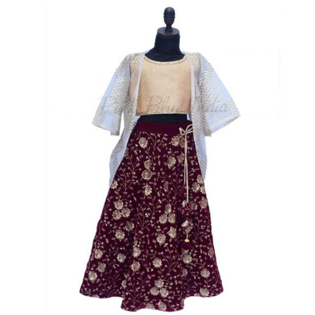 Designer Girls lehenga - Kids Wear Indian Wedding lehenga Dress