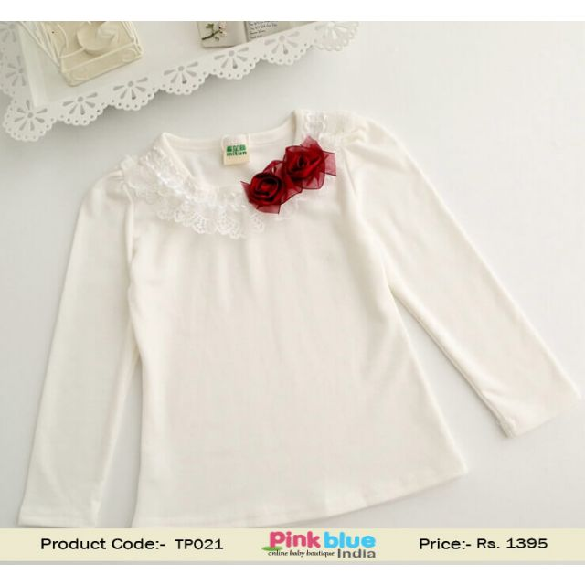 white baby party top