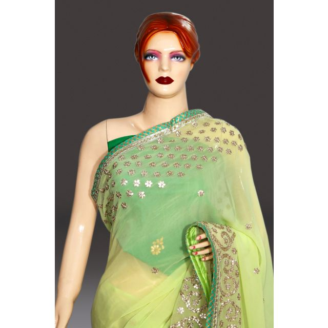 Buy Green Indian Wedding Heavy Saree Collection Online