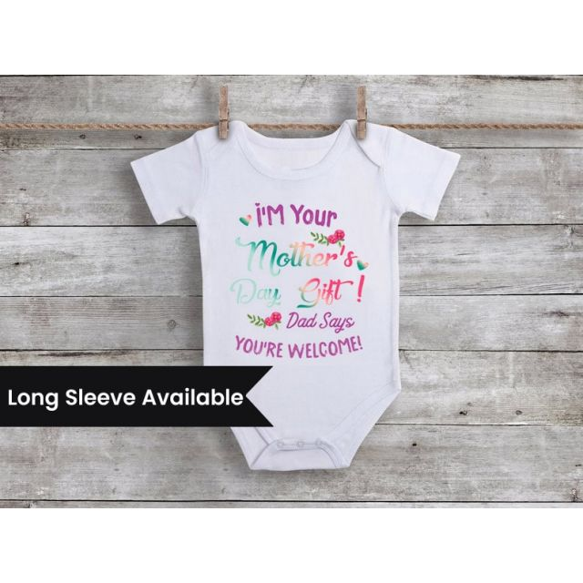 personalized new mom Mother's Day bodysuit / onesie/vest/romper for Infants, Babies & Toddlers
