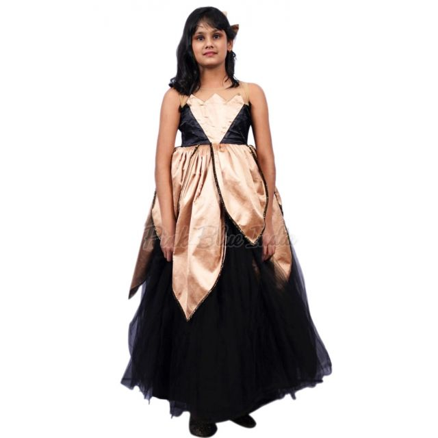 Black Dress for Baby Girl India, Girls Black Designer Party Gown