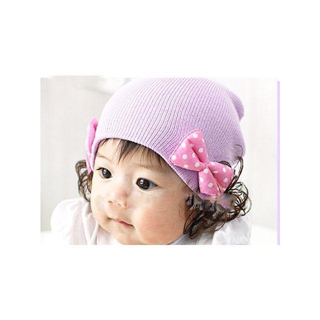 lavender infant hat