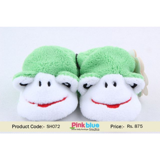 green baby party shoes