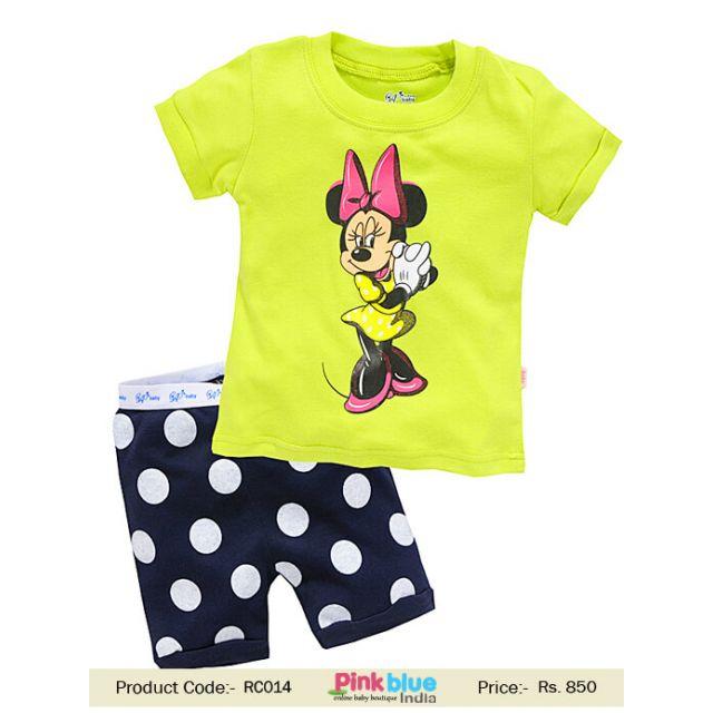 minnie mouse kids t-shirt short