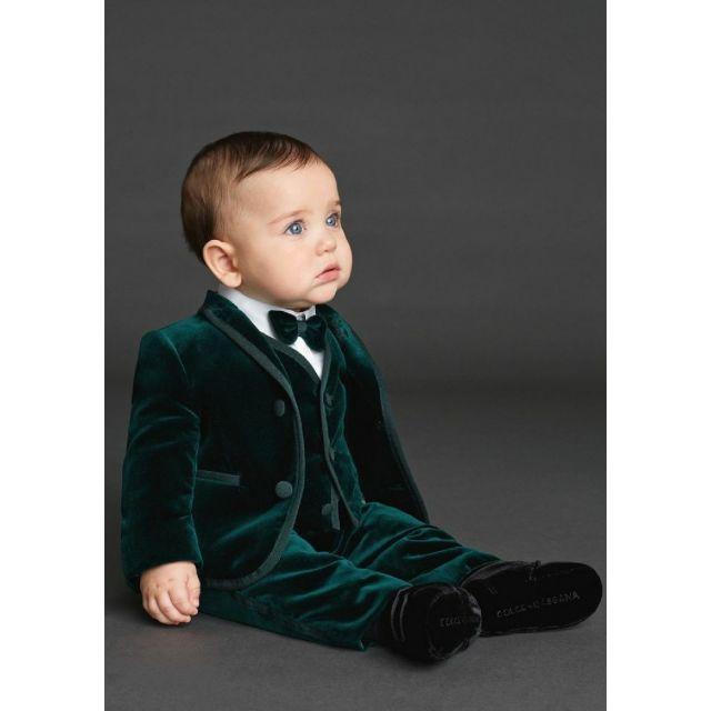 Boys Green Velvet Suit, Baby Boy Velvet Suit