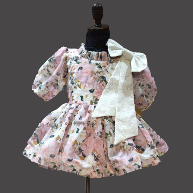 High Neck Baby Girl Party wear Dress