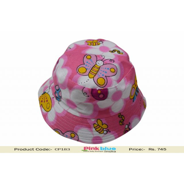 pink baby sun hat
