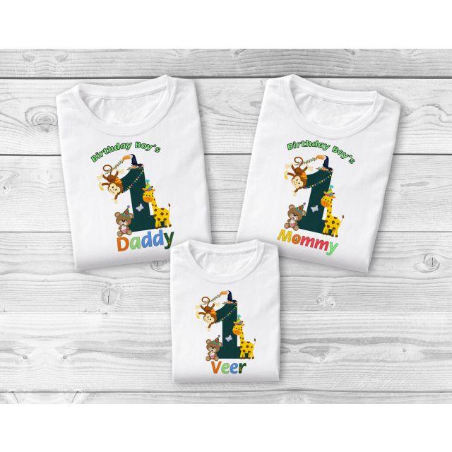 Jungle Safari Family T-Shirts, Matching Family Zoo Safari Birthday Boy Girl Shirts