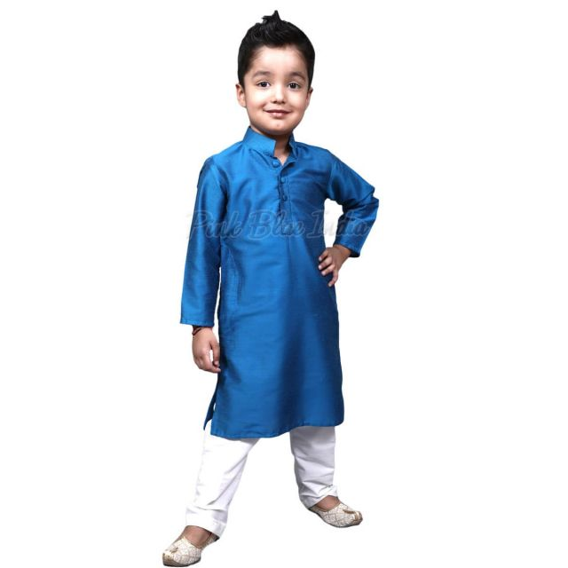 Kids Blue Kurta Pajama, Shop Cotton Kids Kurta Pajama Online