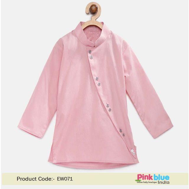Boys Pink Kurta - Cotton Kids Ethnic Kurta Online India