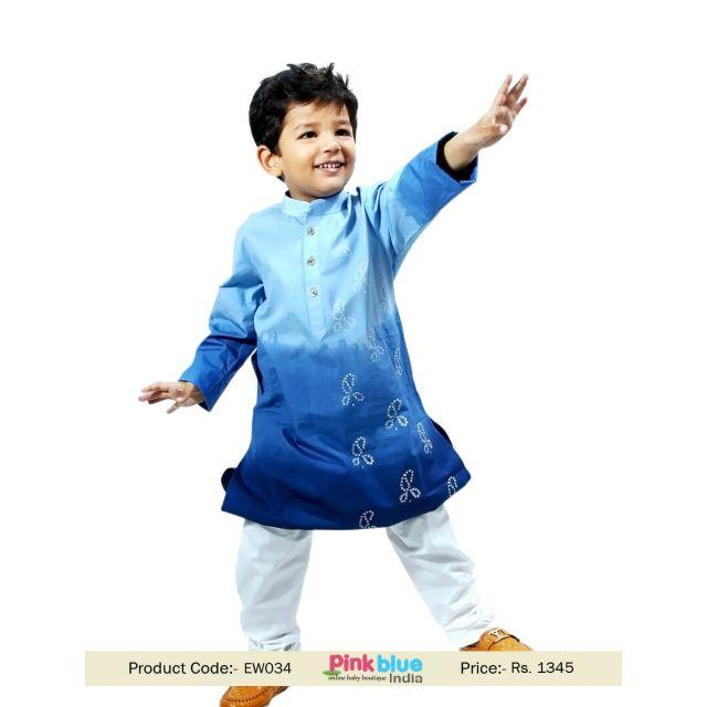 Baby Boys Indian Ethnic Wear Wedding Kids Kurta Pajama Outfits Set