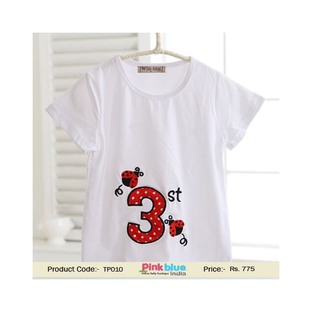 Kids Girls and Boys 3 Year Old Birthday T-Shirts & Tees Bees Print