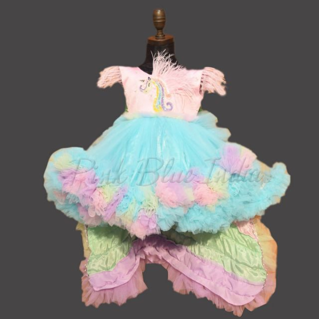 Unicorn Birthday Party Dress, Girls Unicorn Gown