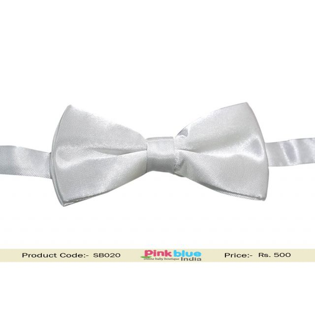 Little Kid White Bow Ties for Toddler Boys in India