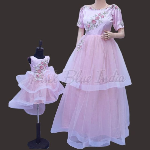 Mommy Daughter Birthday Dress, mother daughter matching outfits party gown