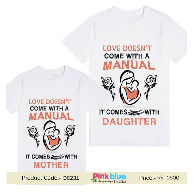 Personalized Family Baby T-shirt - Matching Mother Daughter Tees