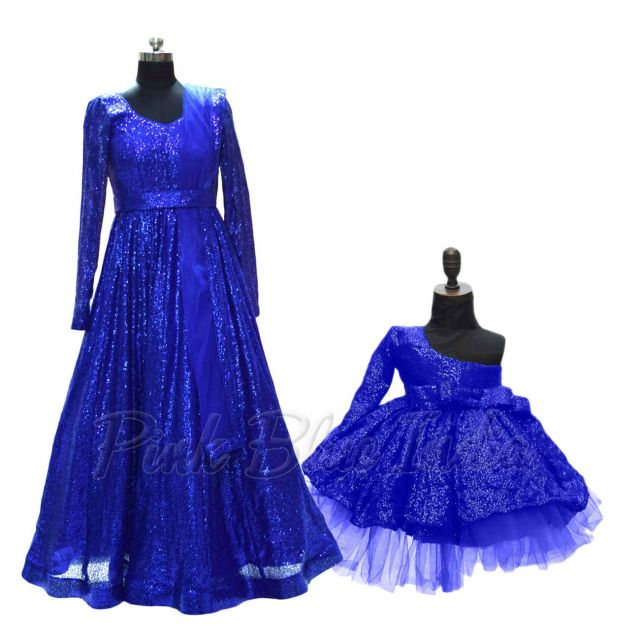 Mother Daughter Dresses for Indian weddings, Coordinating Matching Gown