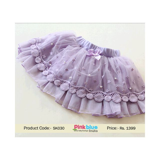 floral baby party skirt
