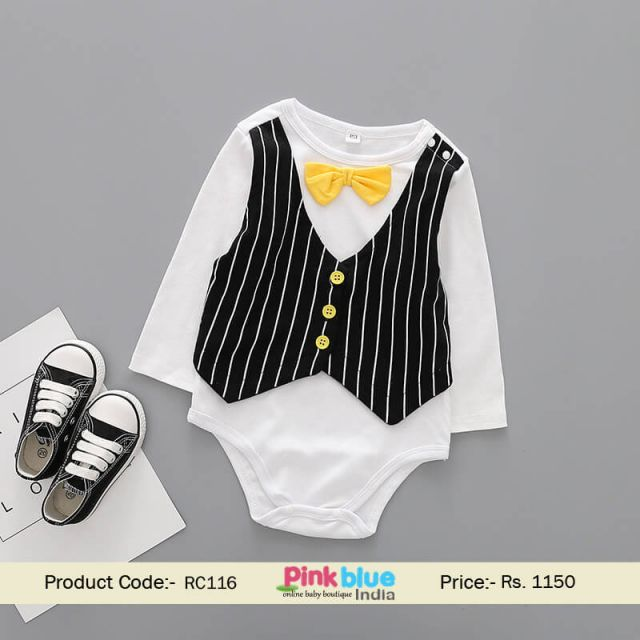 Children Romper Birthday Outfit, Infant Baby Boys One Piece Clothing