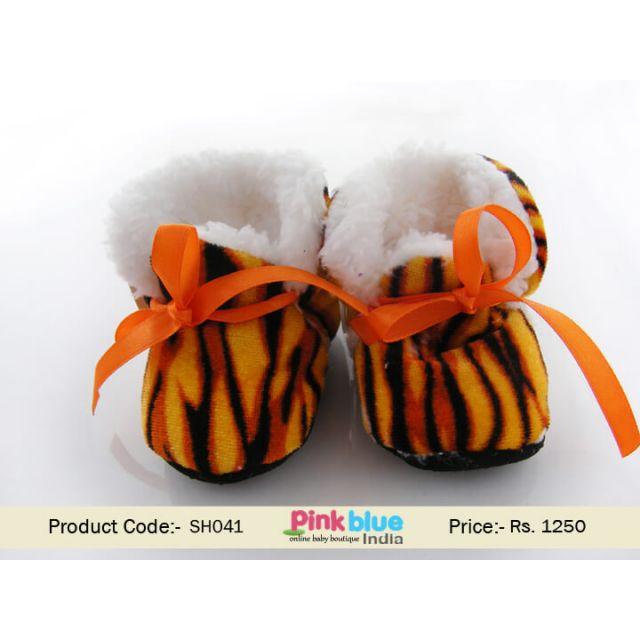 animal print infant shoes