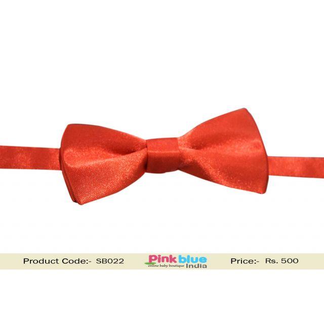 Buy Online Orange Bow Tie for Baby Boys