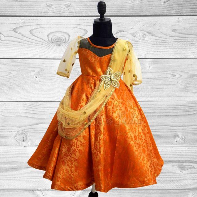 Pattu Pavadai Girls Ethnic Wear - Newborn Baby Girl Indian Dress