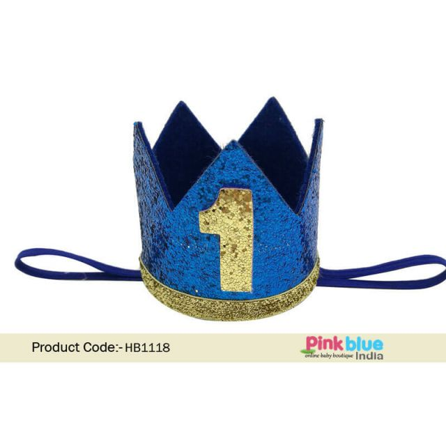 Royal First Birthday Boy Crown, baby boy 1st birthday party King Crown, Prince Hat online India