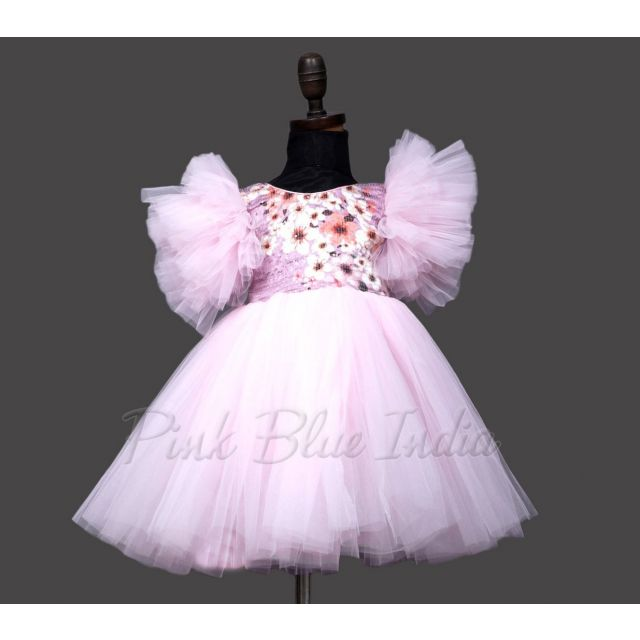 Pink sequin party dress, Baby Girl Birthday Party Dress with headband