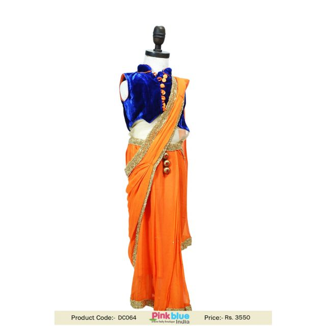 designer saree style dress