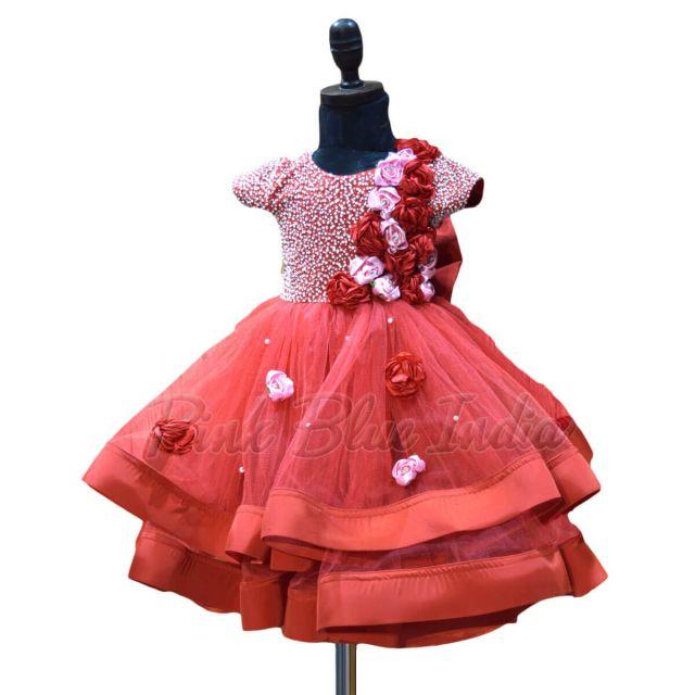Designer Pure Handwork Girls Indian Gown Online