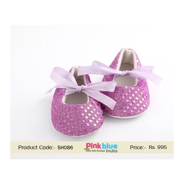 designer purple baby shoes