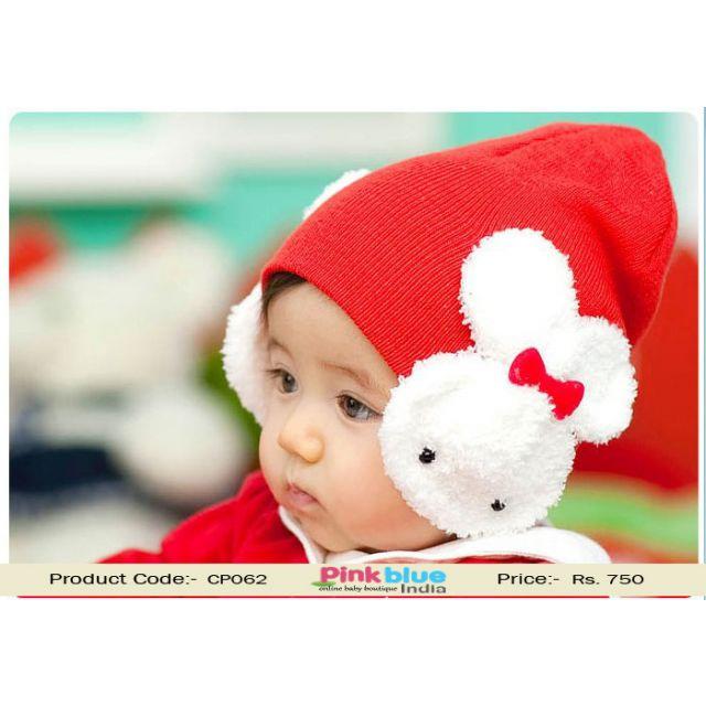 red infant winter cap