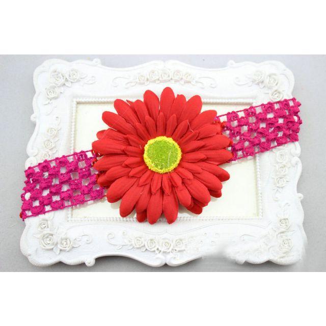 Red Infant Flower Headband for Girls