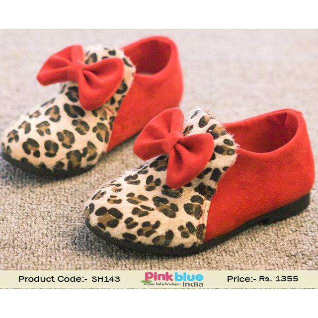 animal print baby shoes